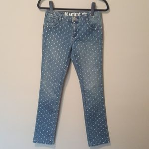CRAZY 8 Be Artistic Skinny Fit Polka Dot Jeans s14
